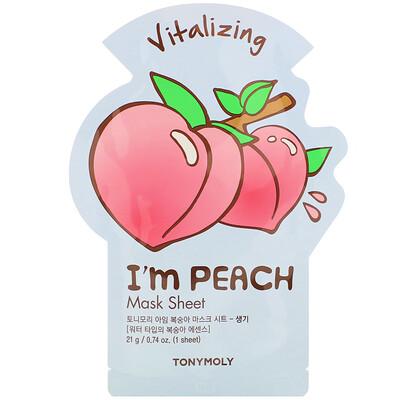 Купить Tony Moly I'm Peach, Vitalizing Mask Sheet, 1 Sheet, 0.74 oz (21 g)