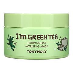 Tony Moly, I'm Green Tea,晨間深度補水美容面膜,3.52 盎司(100 克)