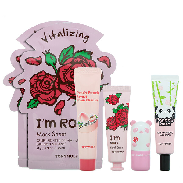 Glow For It, Roses & Peaches Set, 6 Piece Set