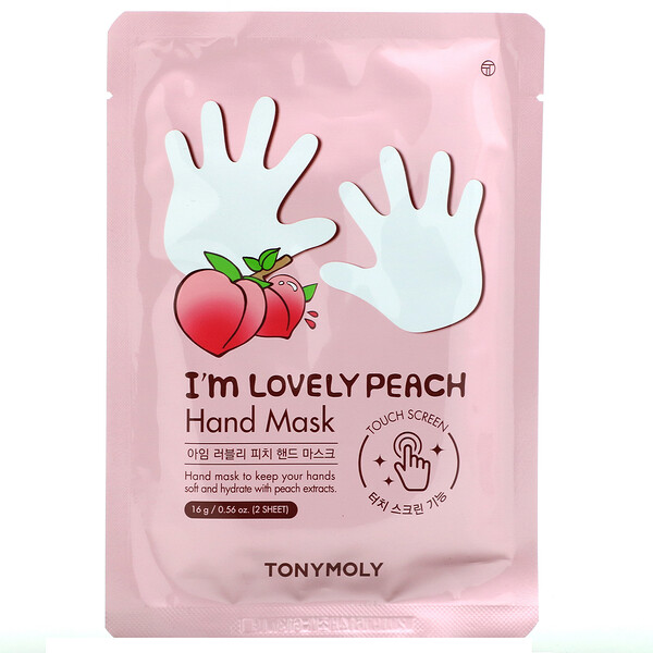 I'm Lovely Peach, Hand Mask, 1 Pair, 0.56 oz (16 g)