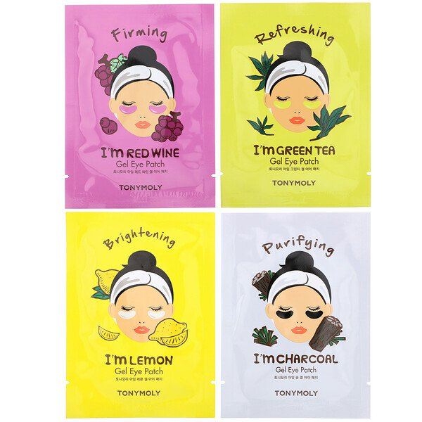 Tony Moly, Buzz Off Puffy Eyes, Eye Mask Set, 4 Piece Set