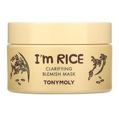 Tony Moly, I'm Rice,祛瑕疵美容面膜,3.38 液量盎司(100 毫升)
