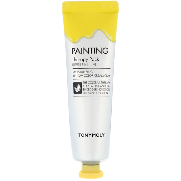 Tony Moly, Painting Therapy Pack, Moisturizing, Yellow Color Cream Clay, 30 g (Discontinued Item)