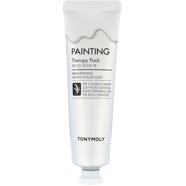 Tony Moly, Painting Therapy Pack, Brightening, White Color Clay, 30 g (Discontinued Item)