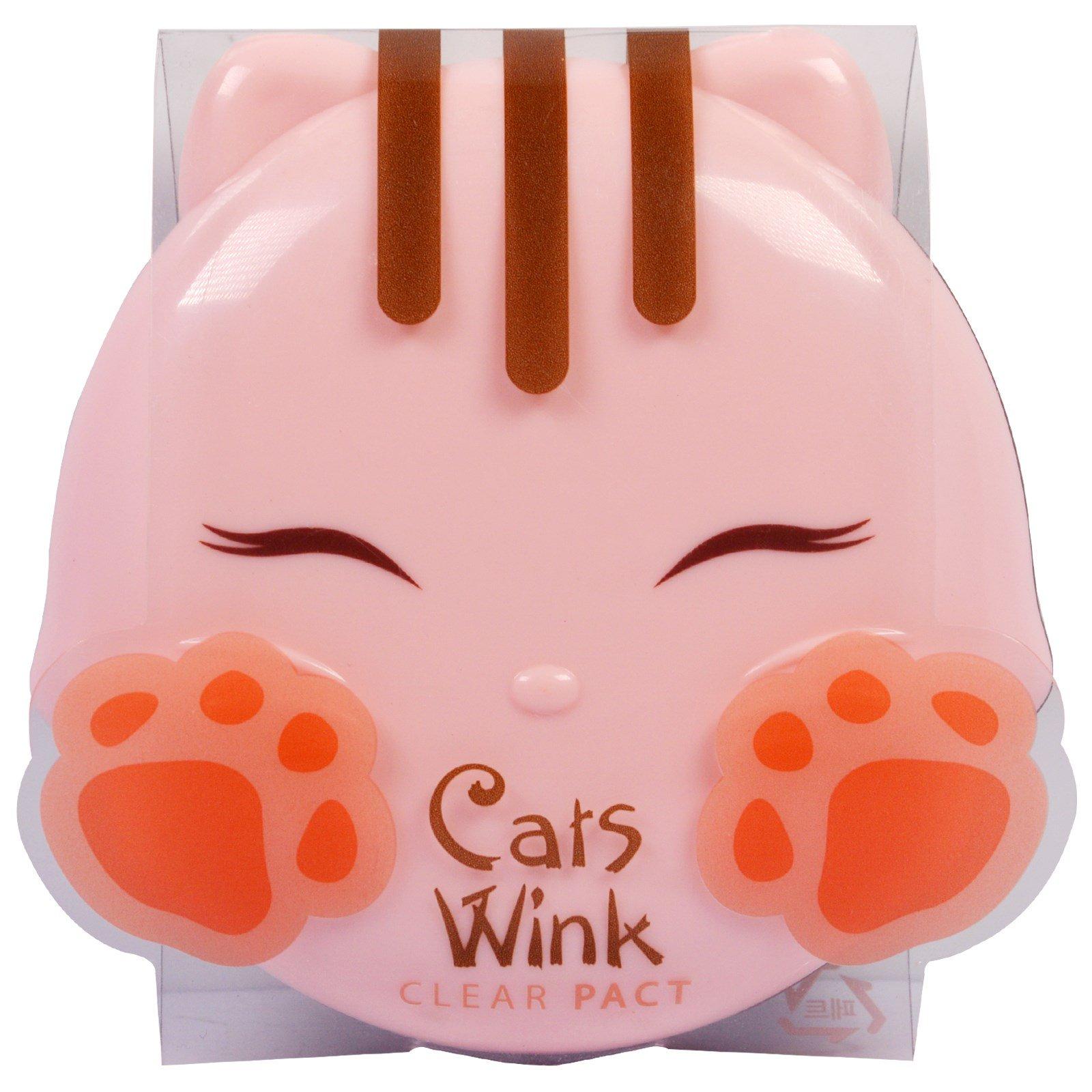 Tony Moly, Cat's Wink, Матирующая компактная пудра, Светло-бежевый оттенок, 0,38 унций (11 г)