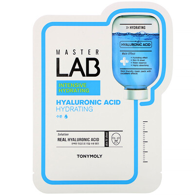 Tony Moly Master Lab, Hyaluronic Acid Hydrating, 1 Sheet, 19 g