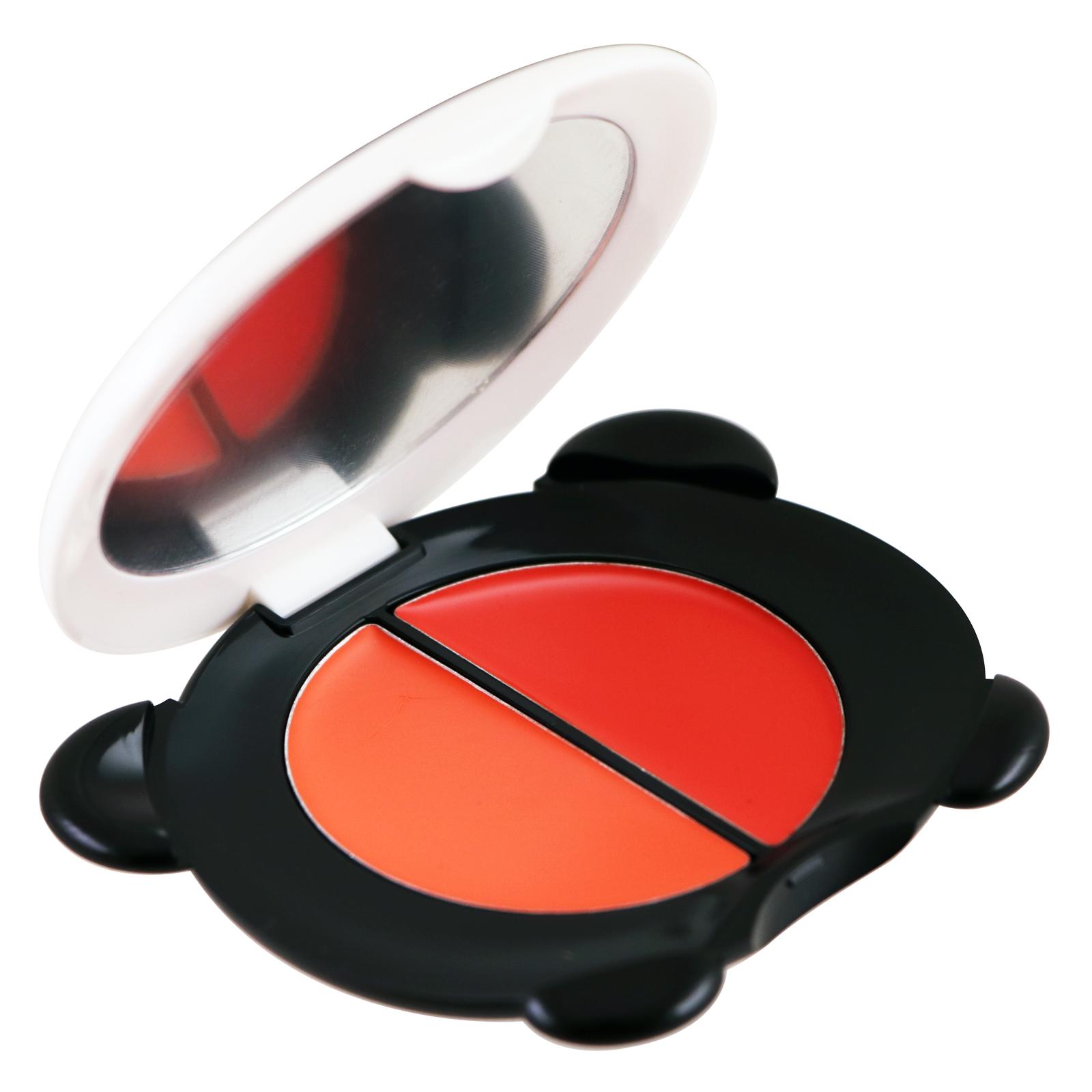 Tony Moly, Мечта панды, тинт для губ + румяна, воздушно-красный, 1,7 г x 2