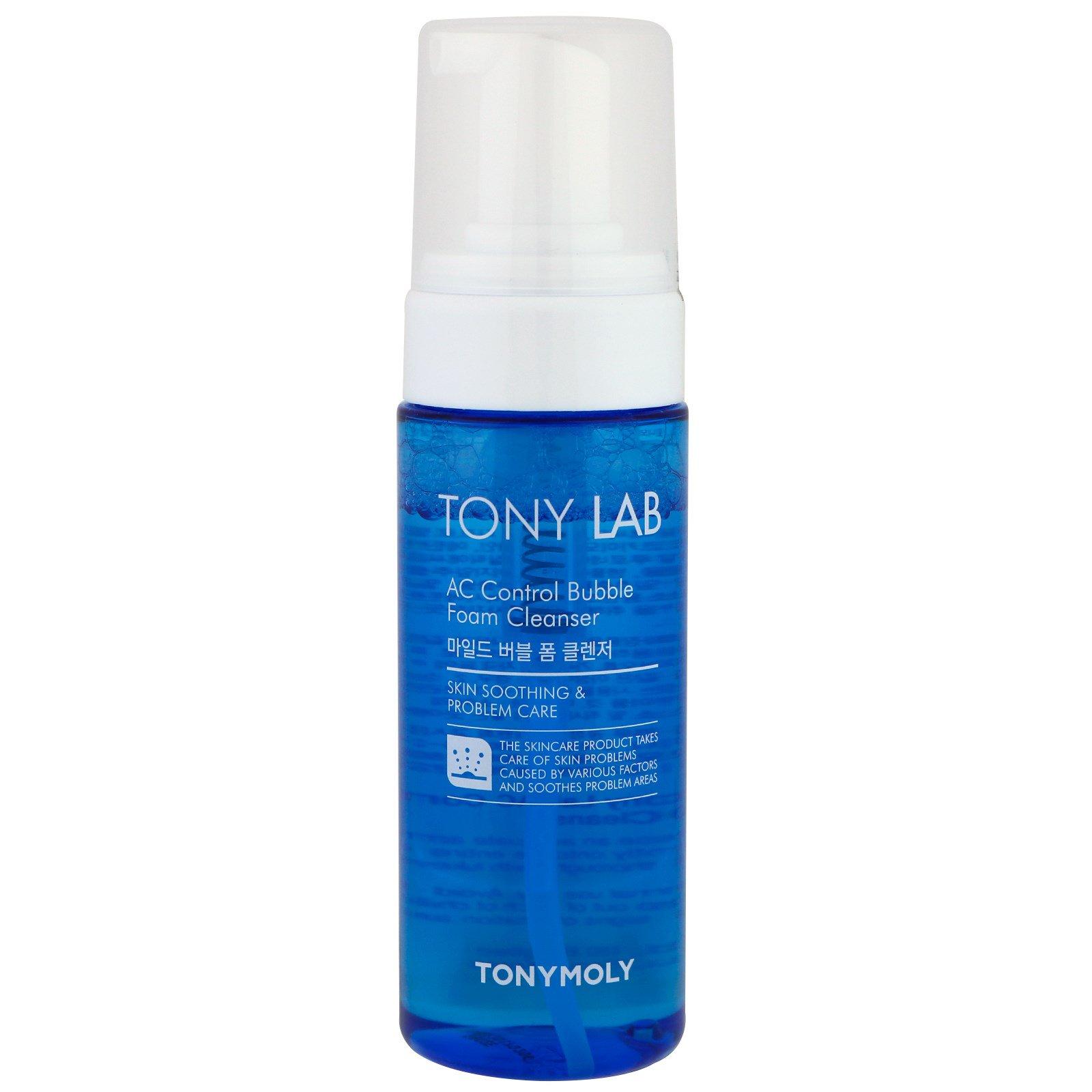 Tony Moly, Tony Lab, пузырчатое пенное чистящее средство с контролем AC, 150 мл
