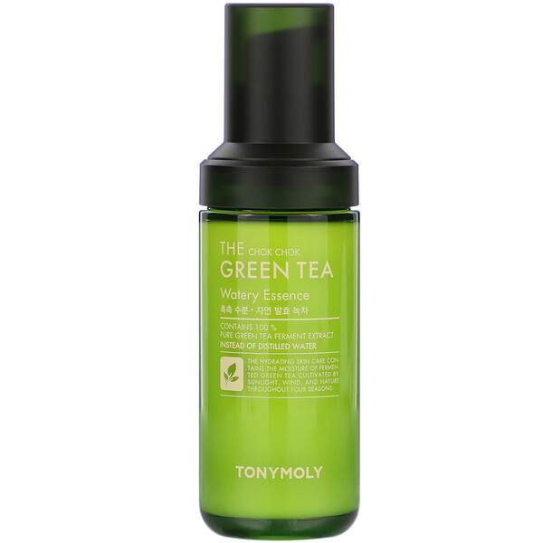 Tony Moly, The Chok Chok Green Tea, Watery Essence, 1.86 fl oz (55 ml) (Discontinued Item)