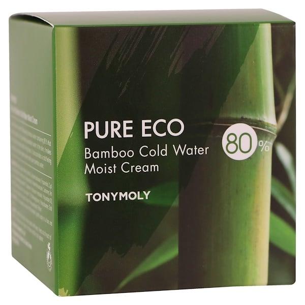 Tony Moly, Pure Eco, Crema humectante de agua fría de bambú, 200 ml