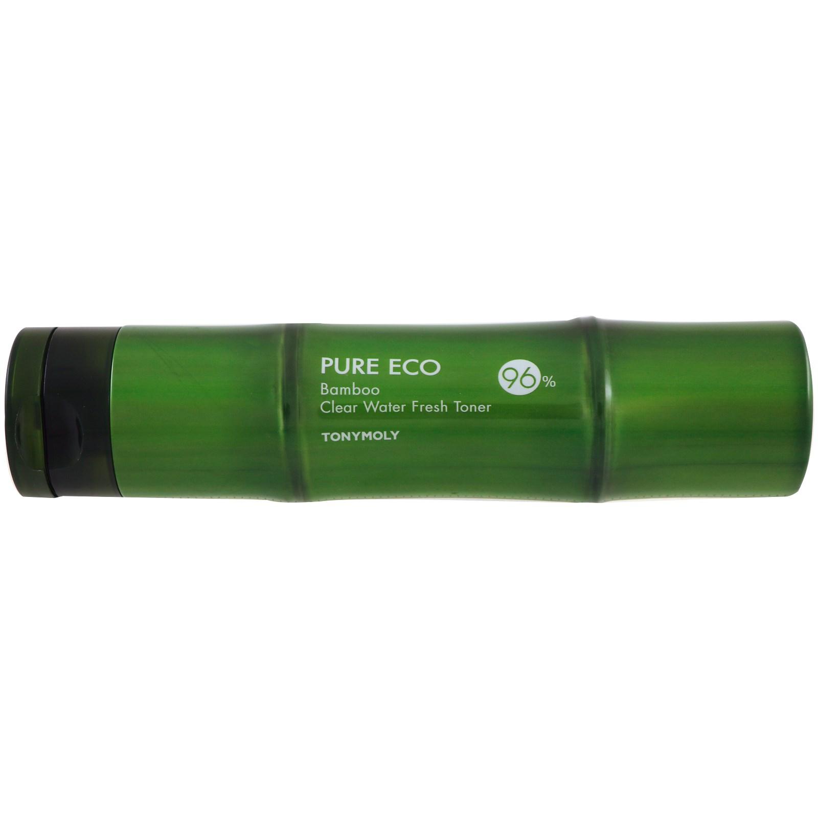 Tony Moly, Pure Eco, Бамбук, тоник со свежей чистой водой, 300 мл