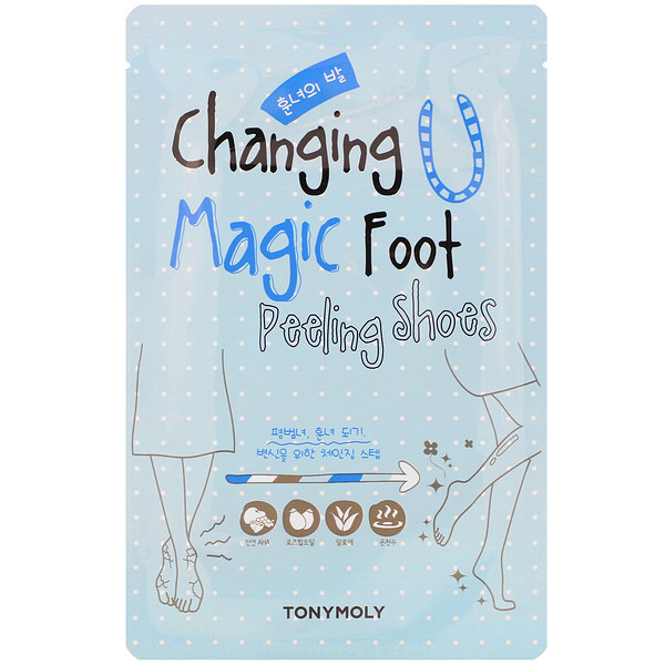 Tony Moly, Changing U, Magic Foot Peeling Shoes, 1 Pair, 0.60 oz (17 g) Each