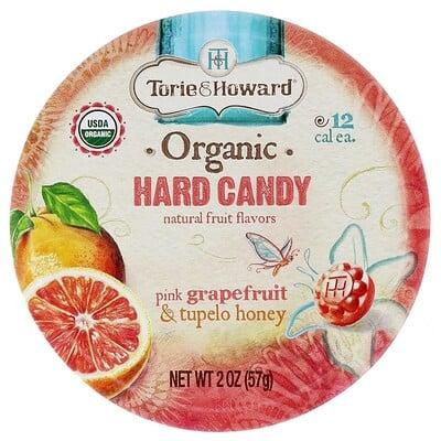 Органические леденцы, розовый грейпфрут и мед Тупело, 57 г (2 унции) органические леденцы дерзкий лимон 93 6 г 3 3 унции