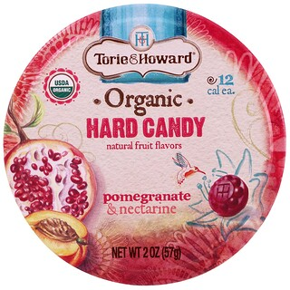 Torie & Howard, Caramelo duro, orgánico, granada y nectarina, 2 oz (57 g)
