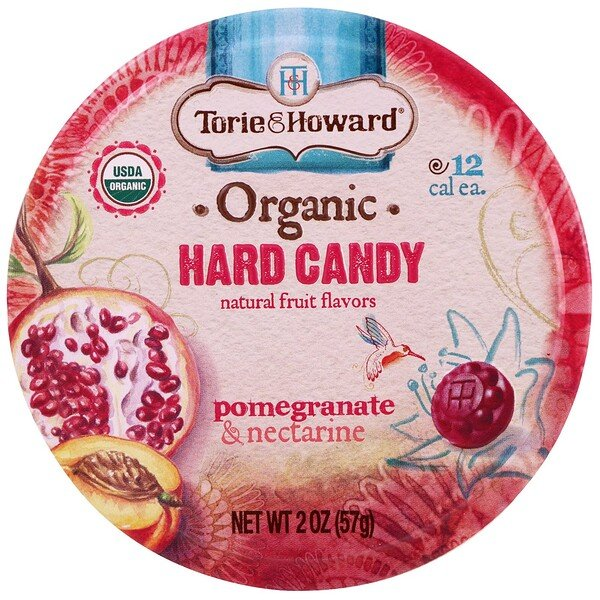 Organic, Hard Candy, Pomegranate & Nectarine, 2 oz (57 g)