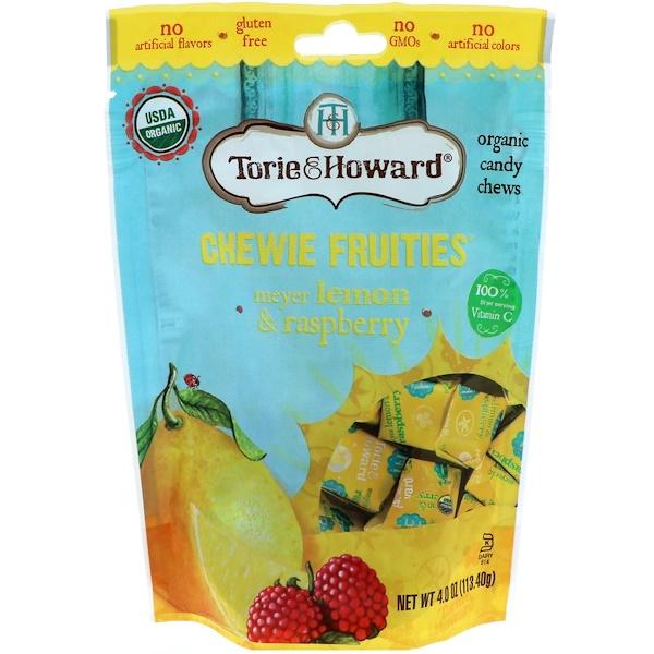 Torie & Howard, オーガニック、チューイーフルーツ、マイヤーレモン & ラズベリー、 4 oz (113.40 g)
