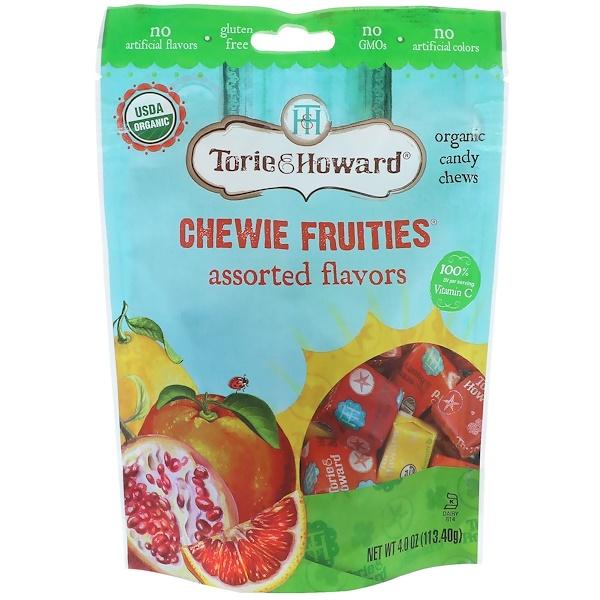 Torie & Howard, オーガニック、チュイフルーツ、味各種、4 oz (113.40 g)