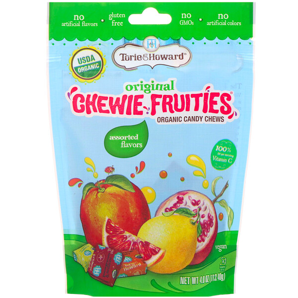 Organic Candy Chews, Original Chewie Fruities, Assorted Flavors, 4 oz (113.40 g)