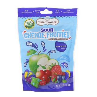 Torie & Howard, Organic, Sour Chewie Fruities, Assorted Sours, 4 oz (113.40 g)