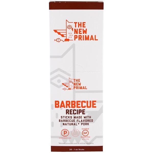 The New Primal, 天然豬肉條,燒烤風味,20條,每條1盎司