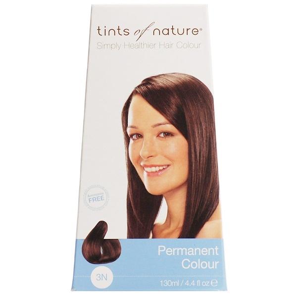 Tints of Nature, Permanent Color, Natural Dark Brown, 3N, 4、4 fl oz (130 ml)