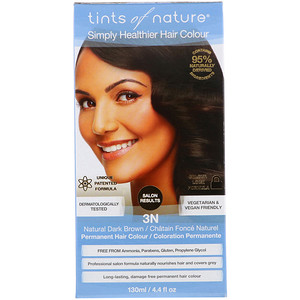 Тинтс оф Нэйчэр, Permanent Hair Color, Natural Dark Brown, 3N, 4.4 fl oz (130 ml) отзывы