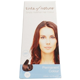 Tints of Nature, Permanent Color, Natural Light Brown, 5N, 4.4 fl oz (130 ml)