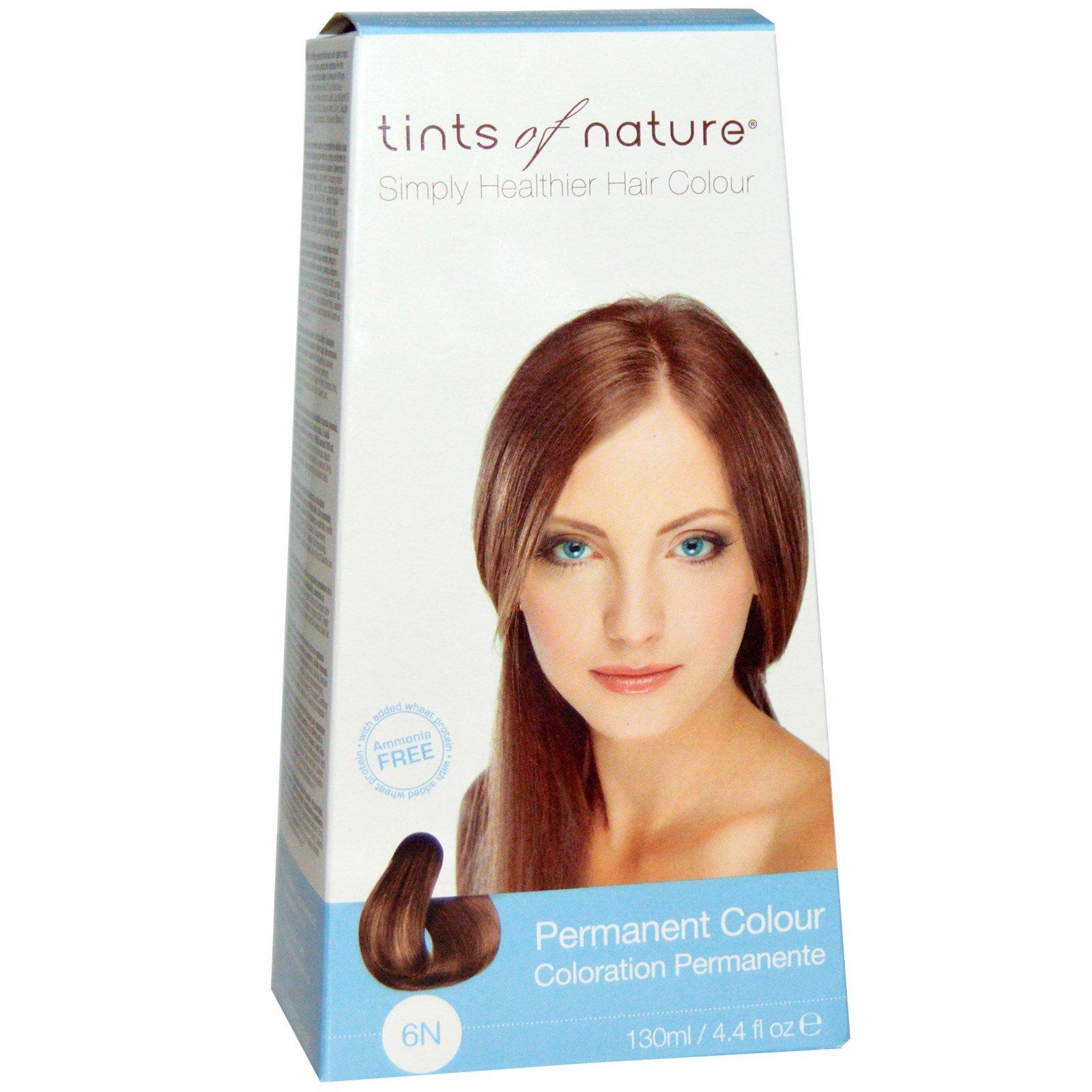 Tints of Nature, Устойчивая краска, натуральный темно-блондинистый цвет, 6N, 4.4 жидких унций (130 мл)