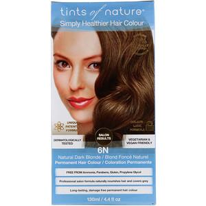 Тинтс оф Нэйчэр, Permanent Color, Natural Dark Blonde, 6N, 4.4 fl oz (130 ml) отзывы