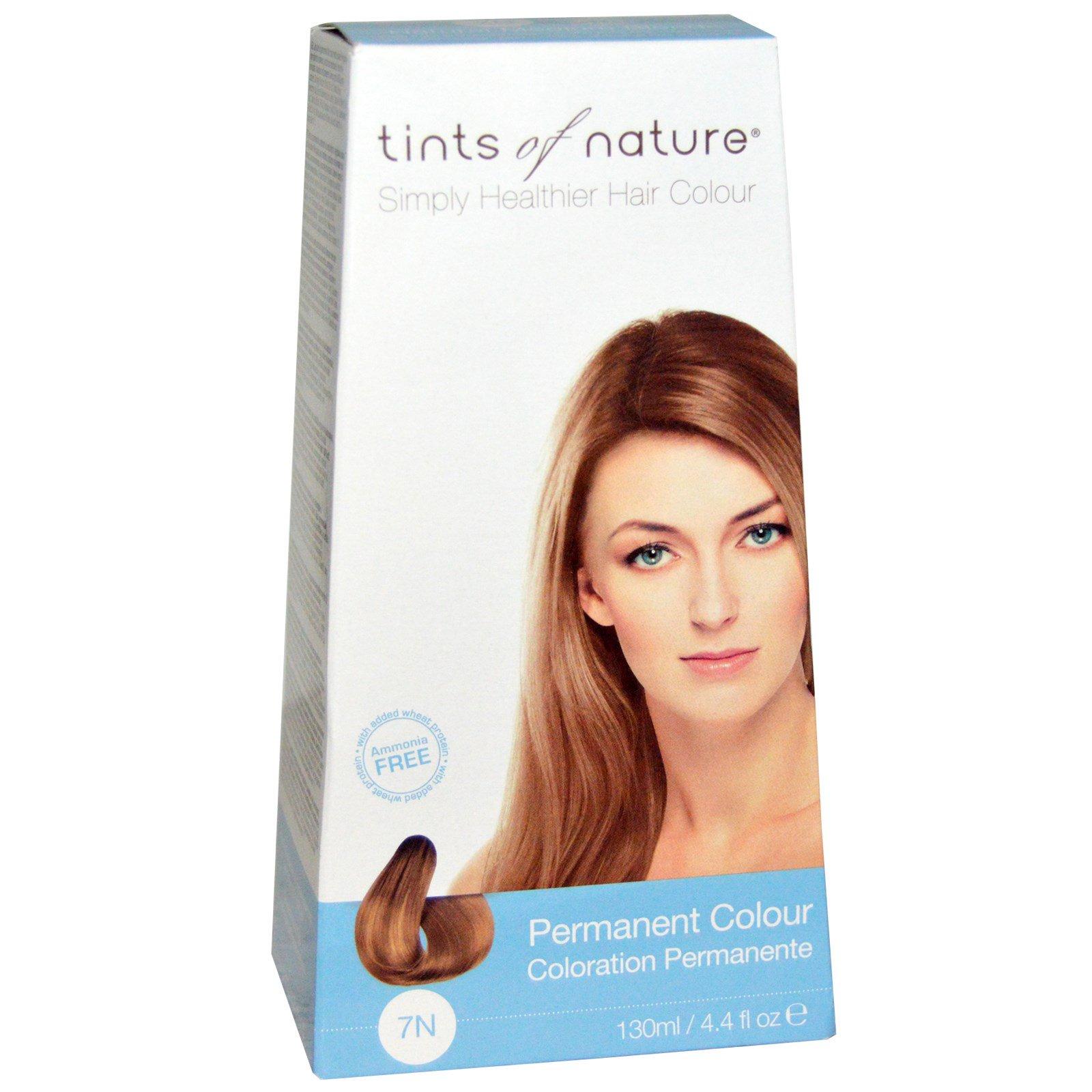 Tints of Nature, Перманентная краска для волос, натуральный русый оттенок, 7N, 4.4 жидких унции (130 мл)