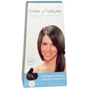 Tints of Nature, Перманентная краска для волос, средний пепельно-коричневый оттенок, 4C, 4.4 жидкие унции (130 мл) инструкция, применение, состав, противопоказания