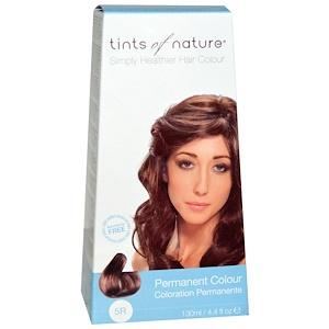 Tints of Nature, Перманентная краска для волос, насыщенный медно-коричневый оттенок, 5R, 4.4 жидкие унции (130 мл) инструкция, применение, состав, противопоказания
