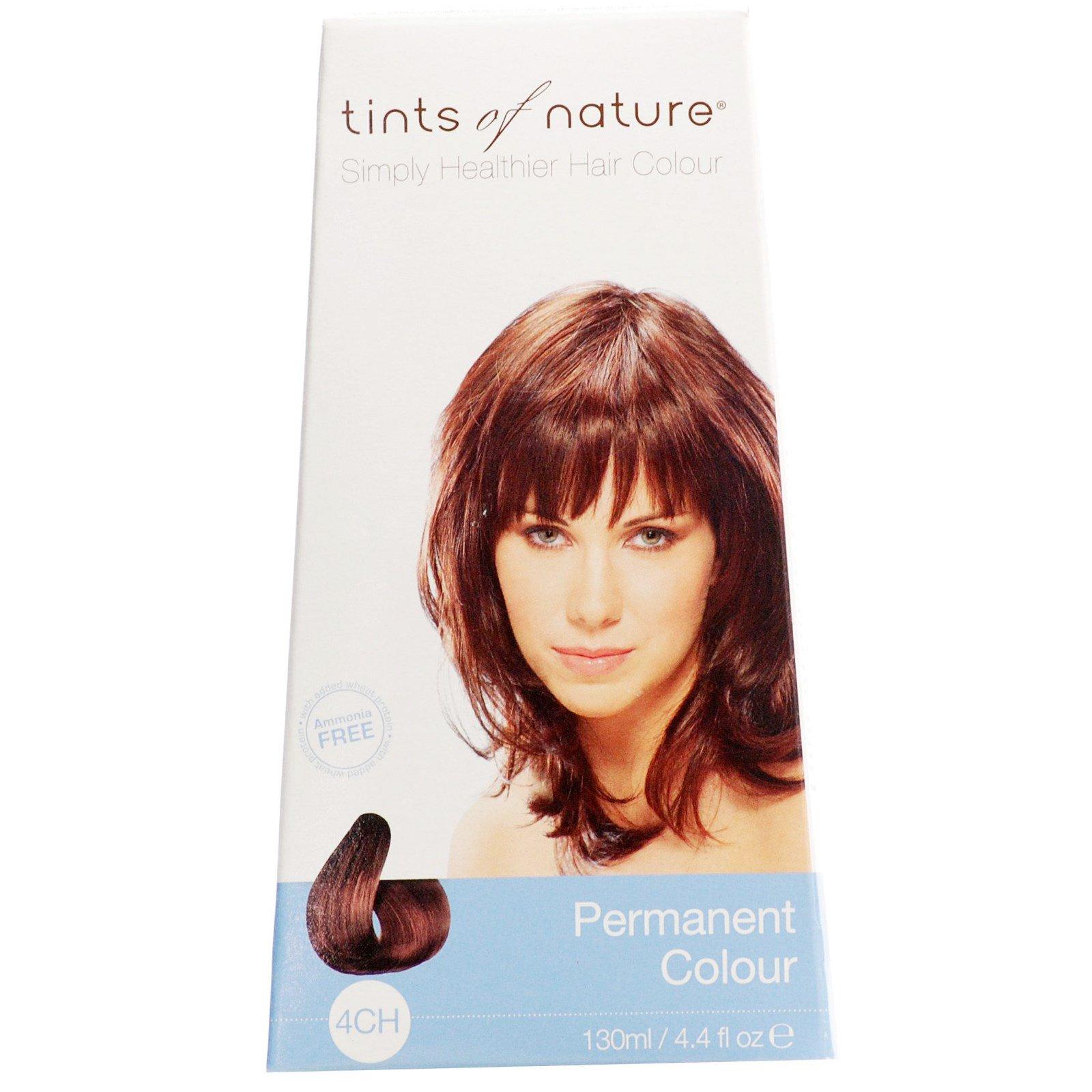 Tints of Nature, Устойчивая краска, глубокий шоколадно-коричневый оттенок, 4CH, 4.4 жидких унции (130 мл)