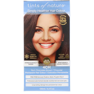 Tints of Nature, Permanent Hair Color, Rich Chocolate Brown, 4CH, 4.4 fl oz (130 ml)