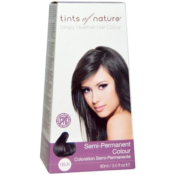 Tints of Nature, Semi-Permanent Color, 1BLK, Black, 3.0 fl oz (90 ml) (Discontinued Item)