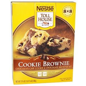 Nestle Toll House, Cookie Brownie, смесь для приготовления шоколадных брауни с шоколадной крошкой, 17 7/8 унций (506 г)