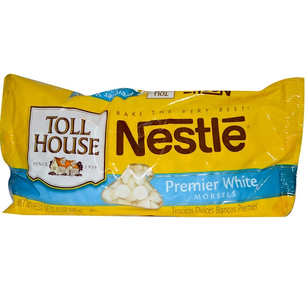 Nestle Toll House, Premier белые кусочки 12 унции (340 g) (Discontinued Item)