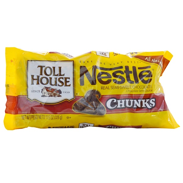 Nestle Toll House, Chunks, Real Semi-Sweet Chocolate, 11.5 oz (326 g)