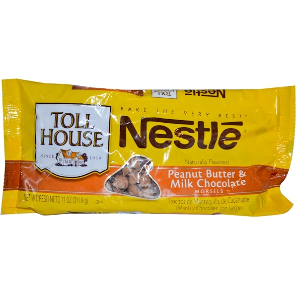 Nestle Toll House, Peanut Butter & Milk Chocolate Morsels, 11 oz (311.8 g) (Discontinued Item)