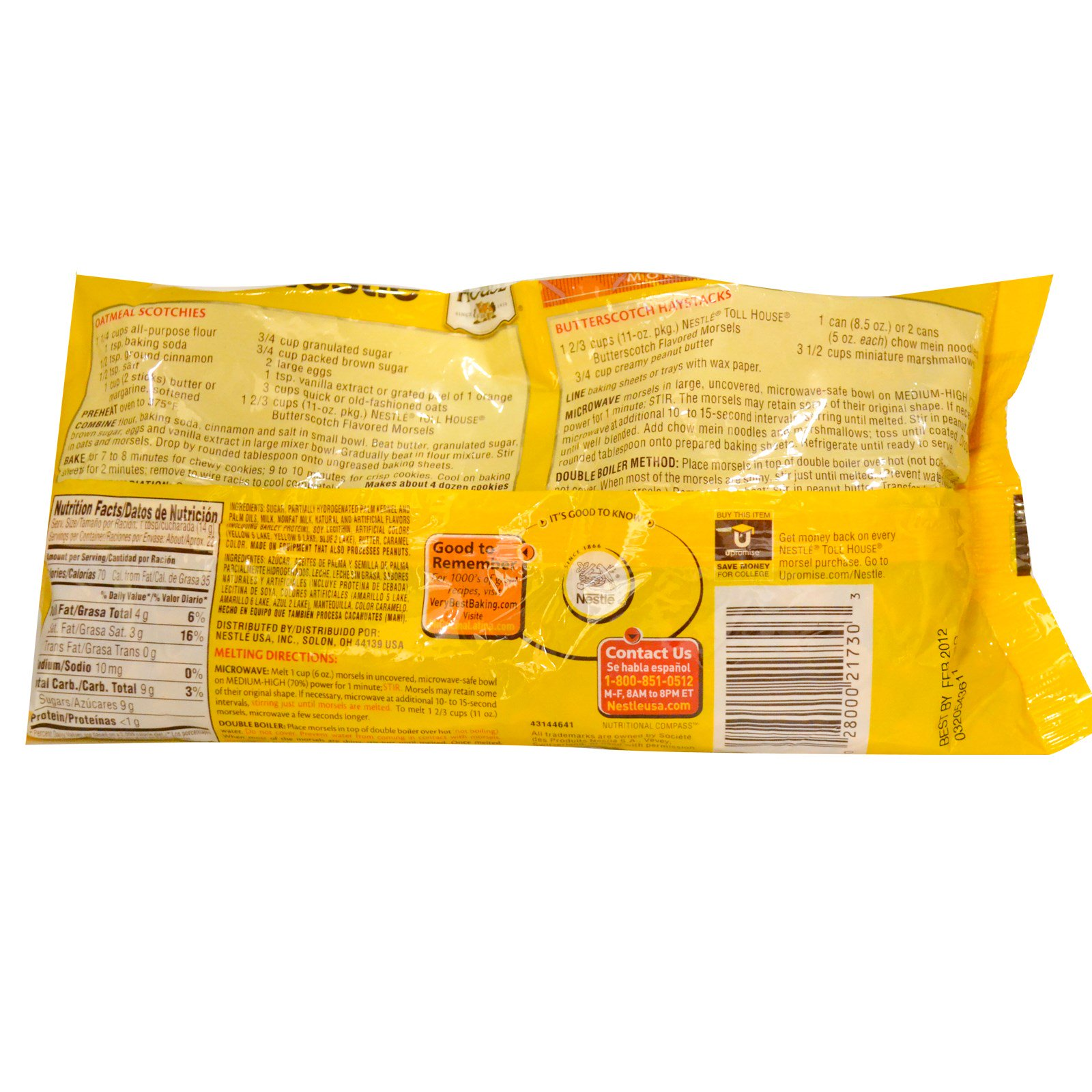 Recipe On Back Of Nestle Chocolate Chips