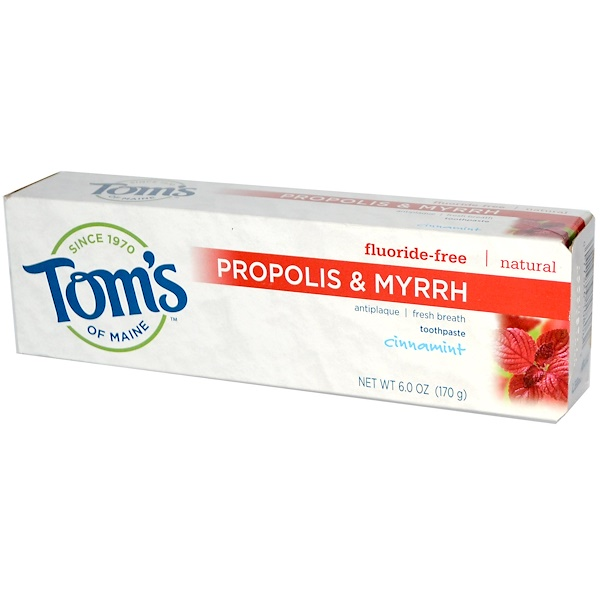 Tom's of Maine, Propolis & Myrrh Toothpaste, Cinnamint, 6.0 oz (170 g) (Discontinued Item)