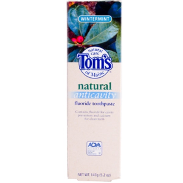 Tom's of Maine, Natural Anticavity Fluoride Toothpaste, Wintermint, 147 g (5.2 oz) (Discontinued Item)