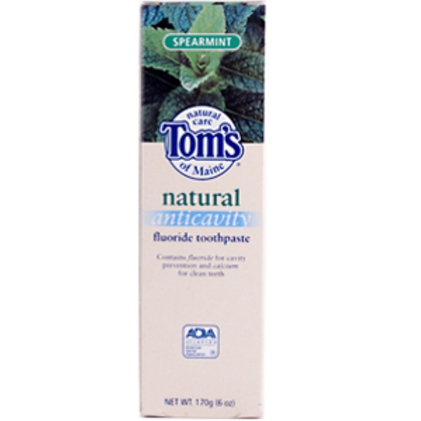 Tom's of Maine, Natural Anticavity Fluoride toothpaste, Spearmint, 6 oz (170 g) (Discontinued Item)