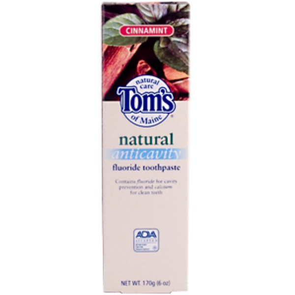 Tom's of Maine, Natural Anticavity Fluoride Toothpaste, Cinnamint, Net Wt 170 g (Discontinued Item)