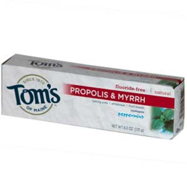 Tom's of Maine, Propolis & Myrrh Toothpaste, Peppermint, 6 oz (170g) (Discontinued Item)