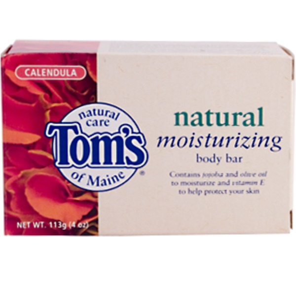 Tom's of Maine, Natural Moisturizing Body Bar, Calendula, 4 oz (113 g) (Discontinued Item)