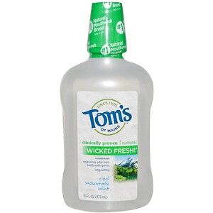 Томс оф Мэйн, Wicked Fresh! Mouthwash, Cool Mountain Mint, 16 fl oz (473 ml) отзывы