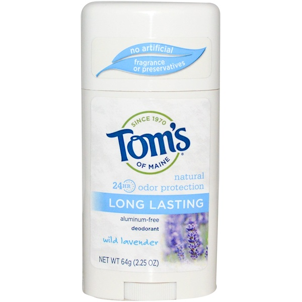 Tom's of Maine, Natural Long Lasting Deodorant, Aluminum-Free, Wild Lavender, 2.25 oz (64 g)