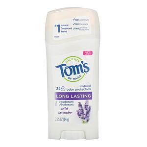 Томс оф Мэйн, Natural Long Lasting Deodorant, Wild Lavender, 2.25 oz (64 g) отзывы