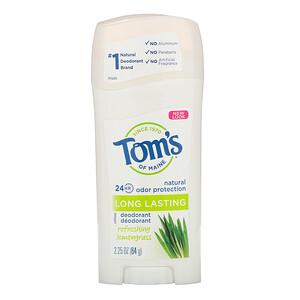 Томс оф Мэйн, Natural Long Lasting Deodorant, Refreshing Lemongrass, 2.25 oz (64 g) отзывы покупателей